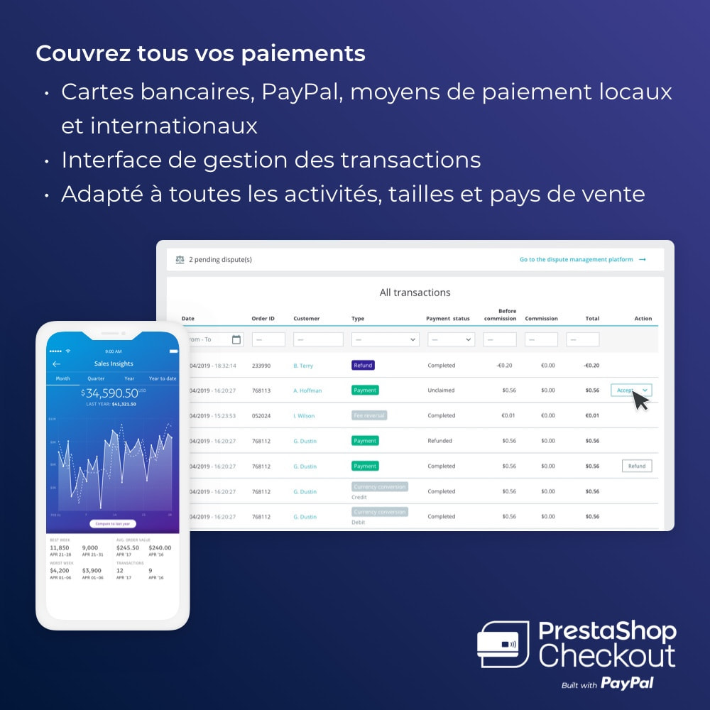 module - Paiement par Carte ou Wallet - PrestaShop Checkout built with PayPal - 4