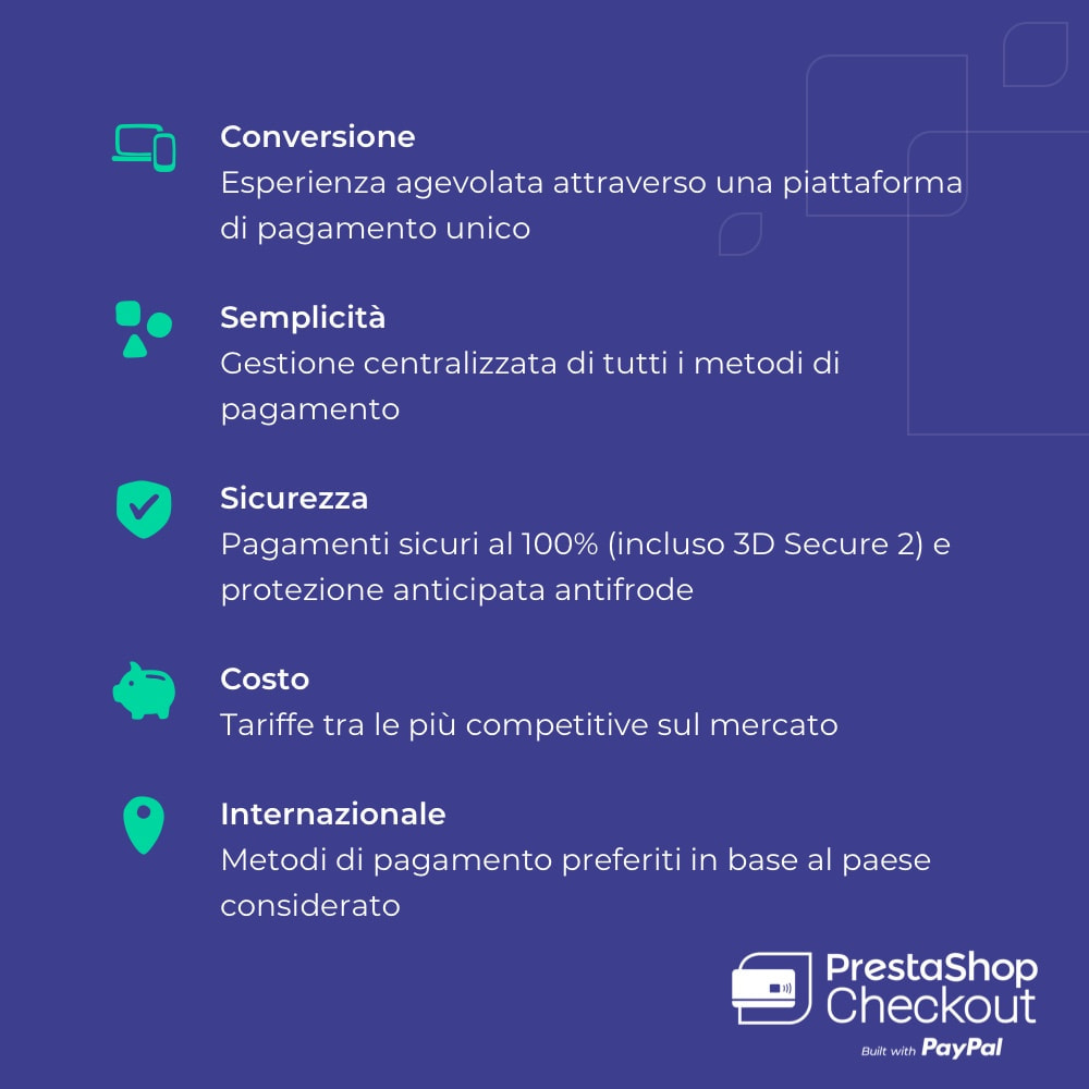 module - Pagamento con Carta di Credito o Wallet - PrestaShop Checkout built with PayPal - 8