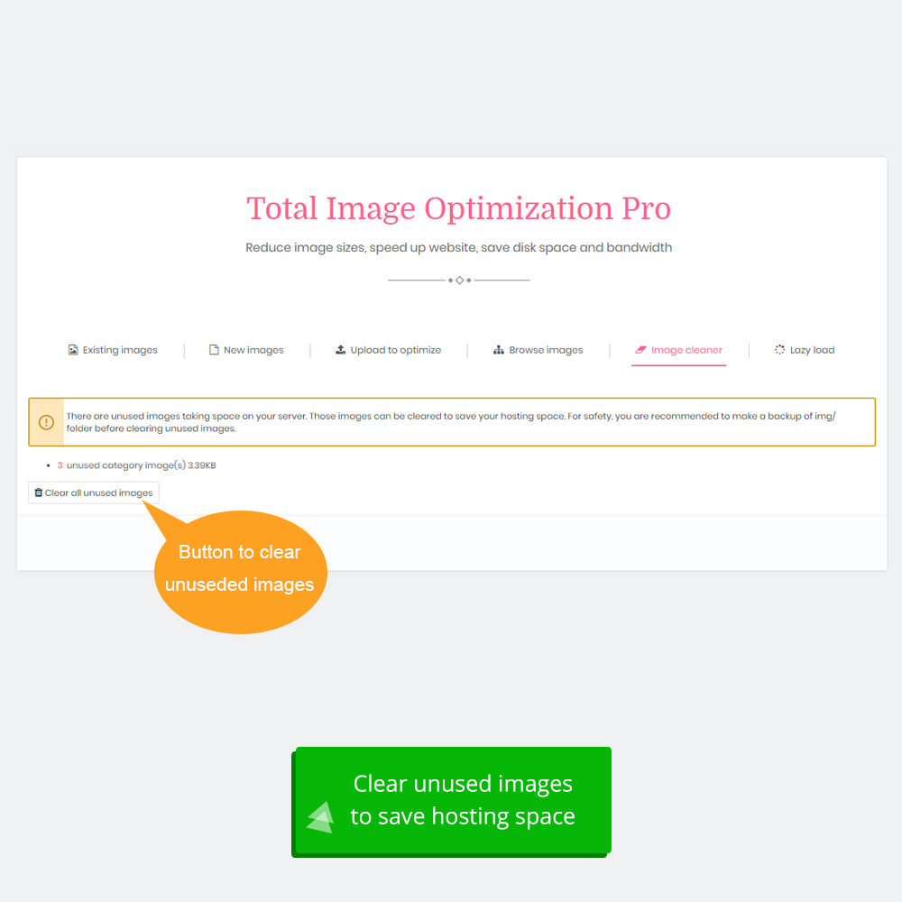 module - Website Performance - Total Image Optimization Pro - Lossless compression - 9