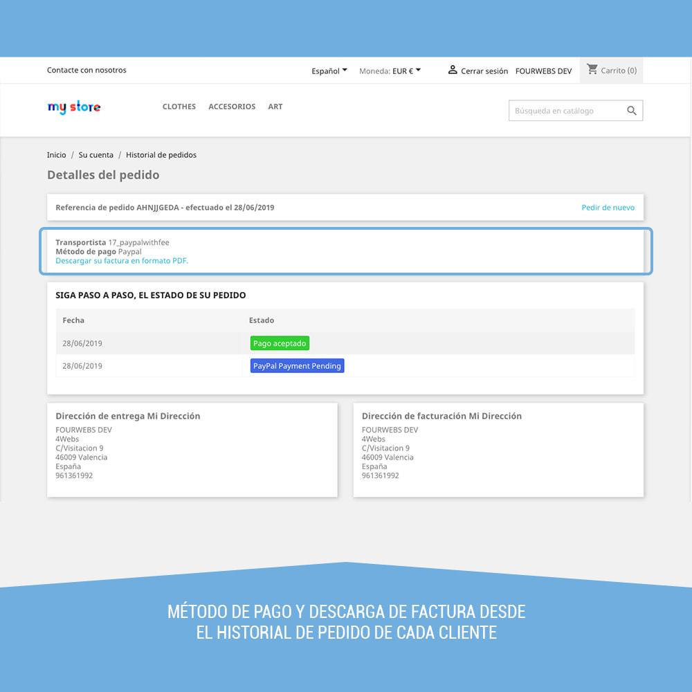 module - Pago con Tarjeta o Carteras digitales - Paypal con recargo - 11
