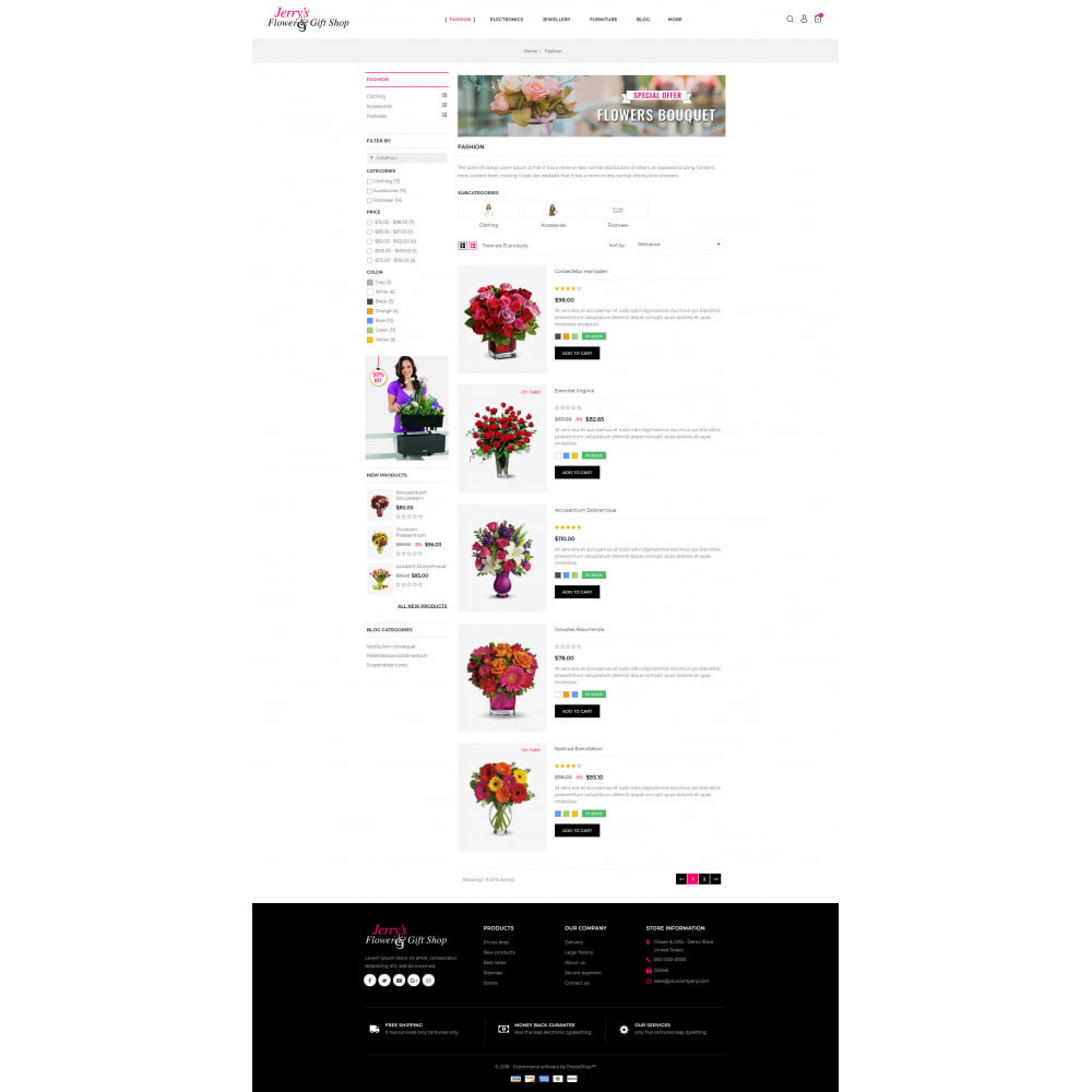 theme - Gifts, Flowers & Celebrations - Flower and Gift Shop - 4