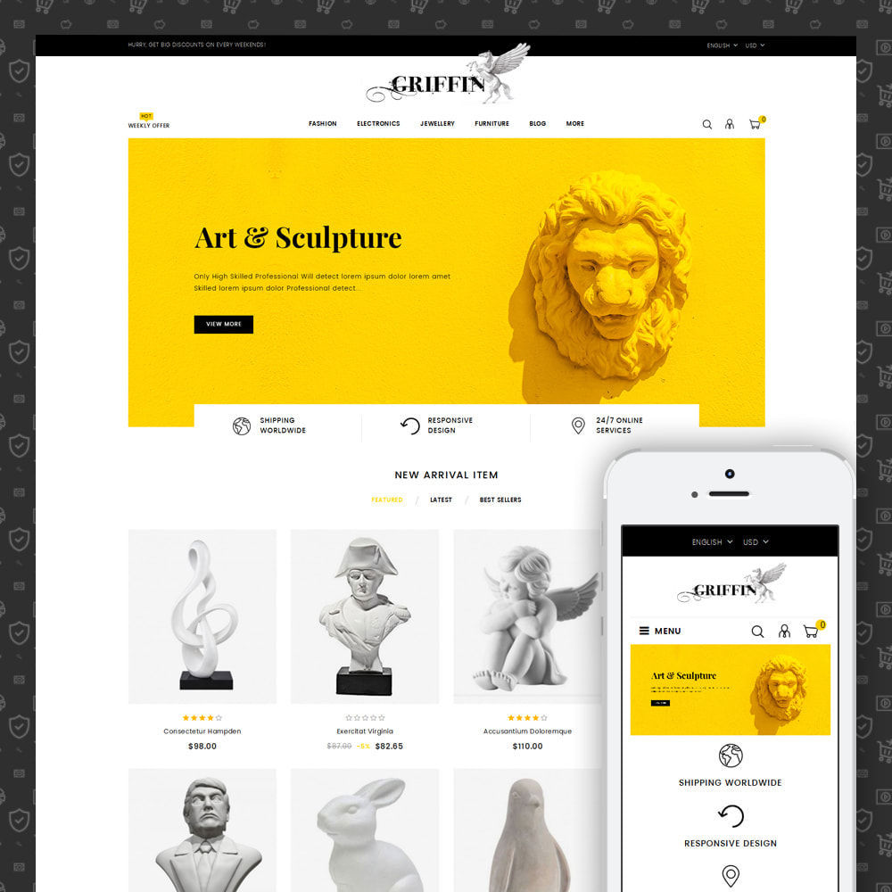 theme - Art & Culture - Griffin - Art Gallery Store - 1