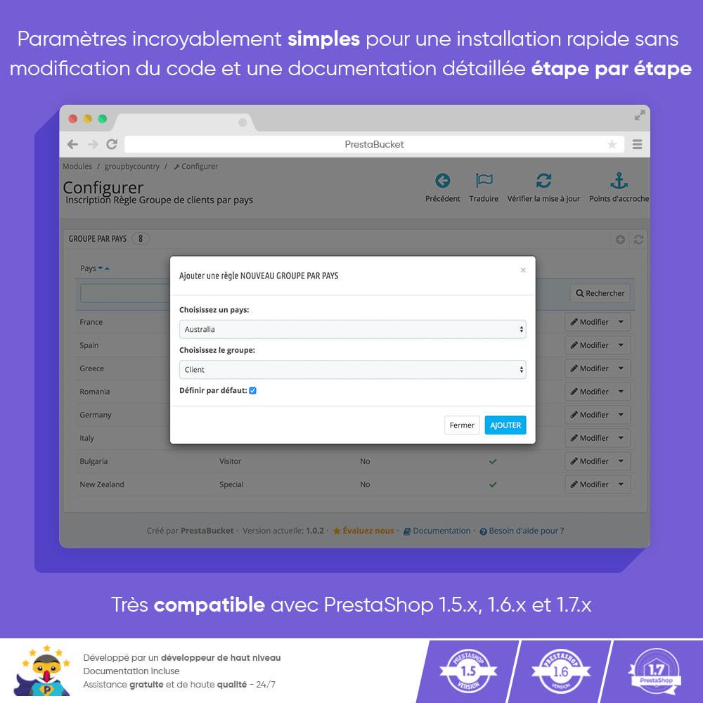module - Gestion des clients - Enregistrement du Groupe de Clients par Pays - 3
