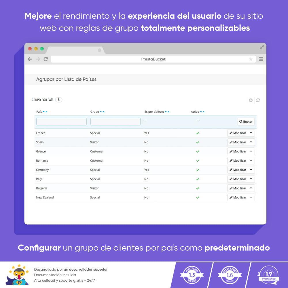 module - Gestión de clientes - Registro Regla de Grupo de Clientes por País - 2