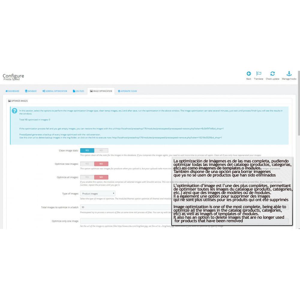 module - Website performantie - PrestaSpeed - Image / site / database optimization - 5
