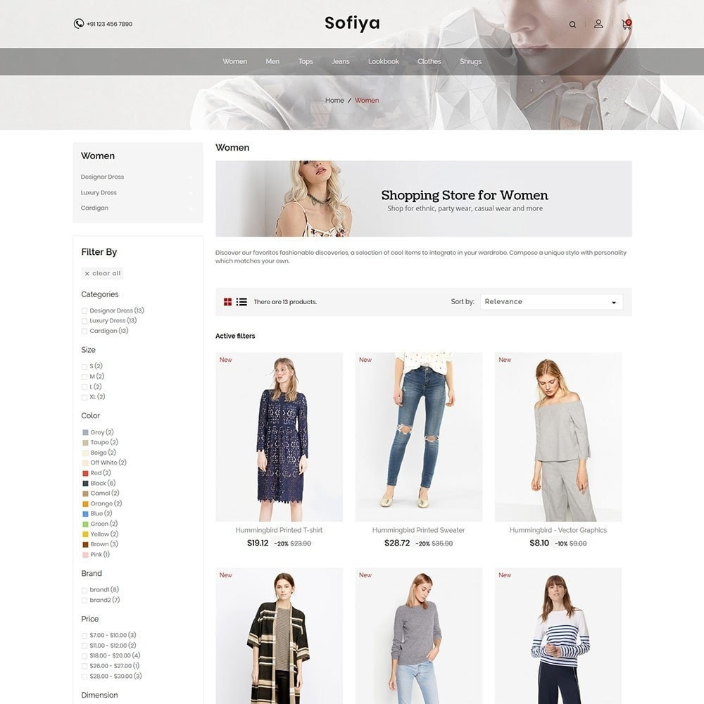 theme - Mode & Schoenen - Sofiya Fashion  -Designer Cloth  Store - 3