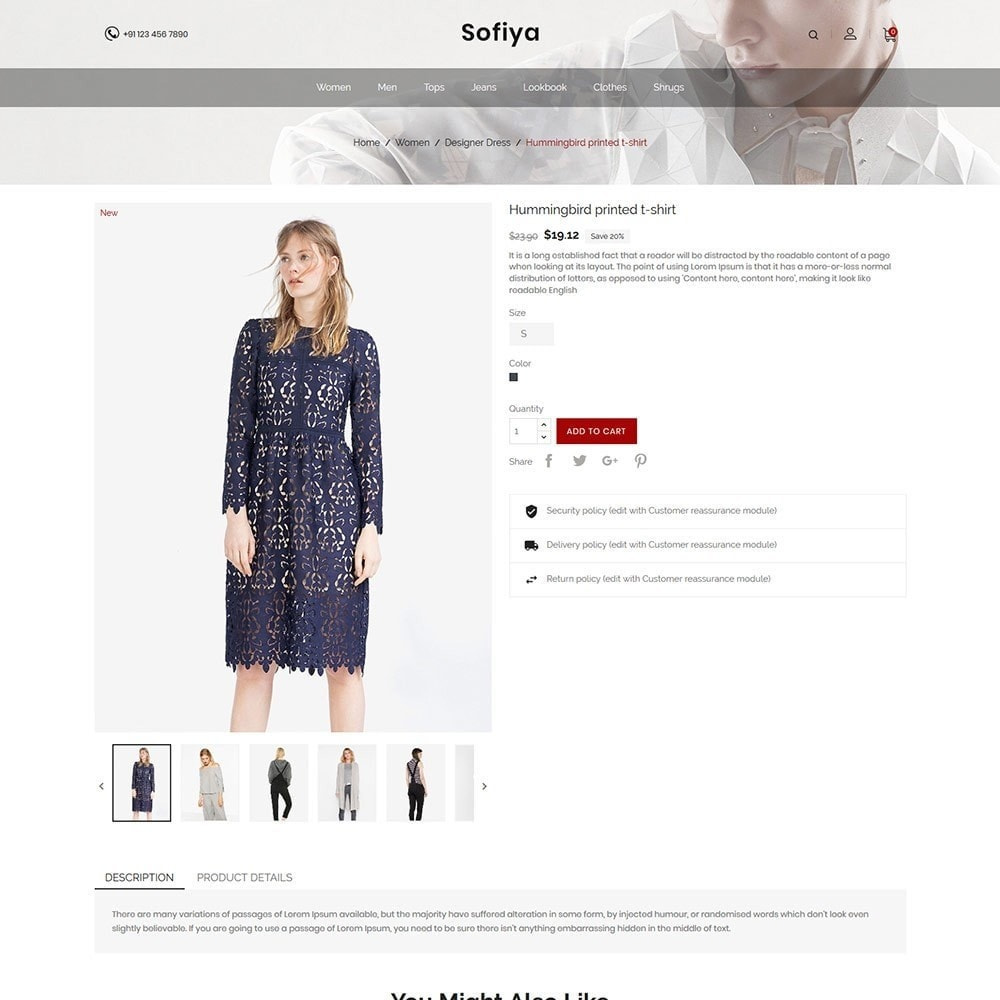 theme - Mode & Chaussures - Sofiya Fashion  -Designer Cloth  Store - 6