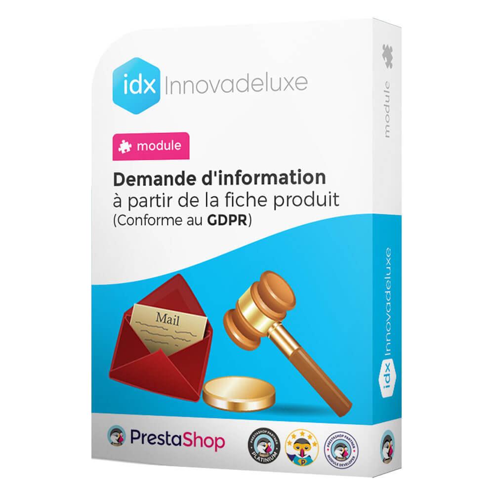 module - Législation - Formulaire de contact de la fiche produit - 1