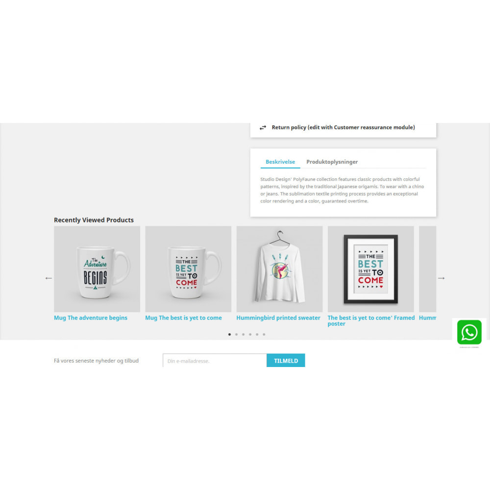 module - Ventas cruzadas y Packs de productos - Recently Viewed Products - Carousel and Responsive - 6