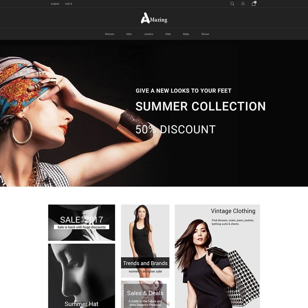 theme - Mode & Schuhe - Amazing Black - Fashion Dark Store - 2