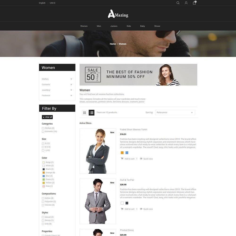 theme - Mode & Schuhe - Amazing Black - Fashion Dark Store - 4