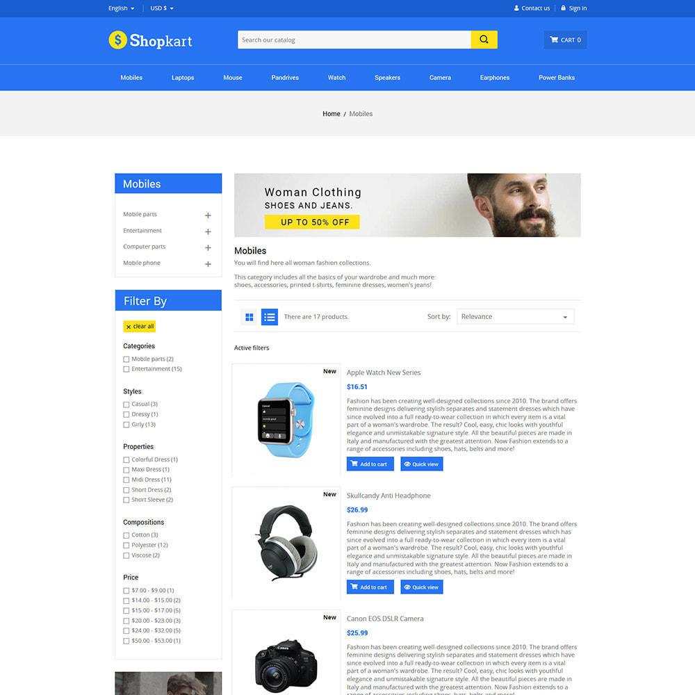 theme - Elettronica & High Tech - Shopkart Electronics - Negozio mobile digitale - 5