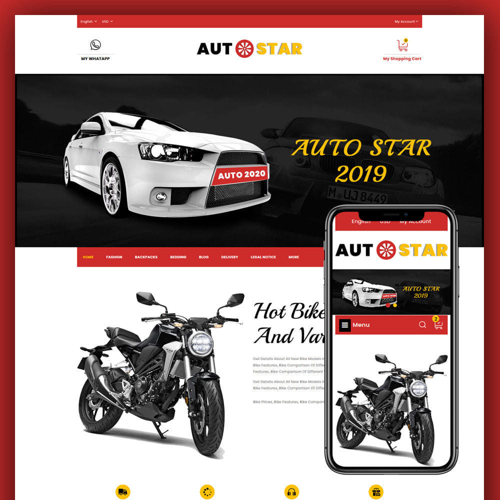 theme - Automotive & Cars - Autostar - autopart store - 1