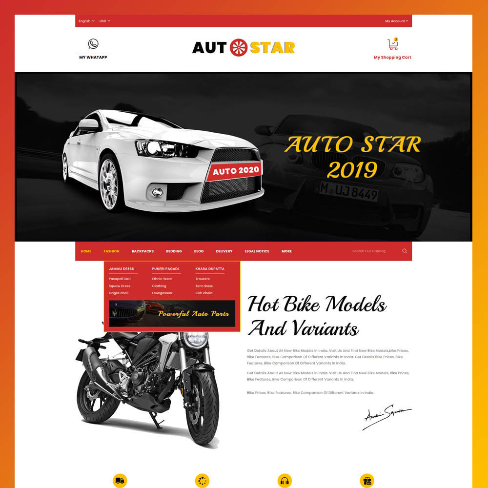 theme - Automotive & Cars - Autostar - autopart store - 3