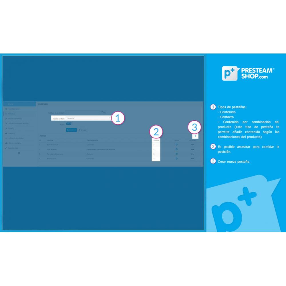 module - Informaciones adicionales y Pestañas - Product Extra Tabs - Pestañas informativas adicionales - 8