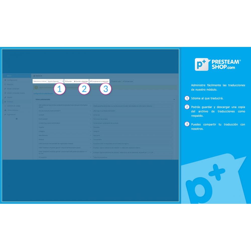 module - Informaciones adicionales y Pestañas - Product Extra Tabs - Pestañas informativas adicionales - 13
