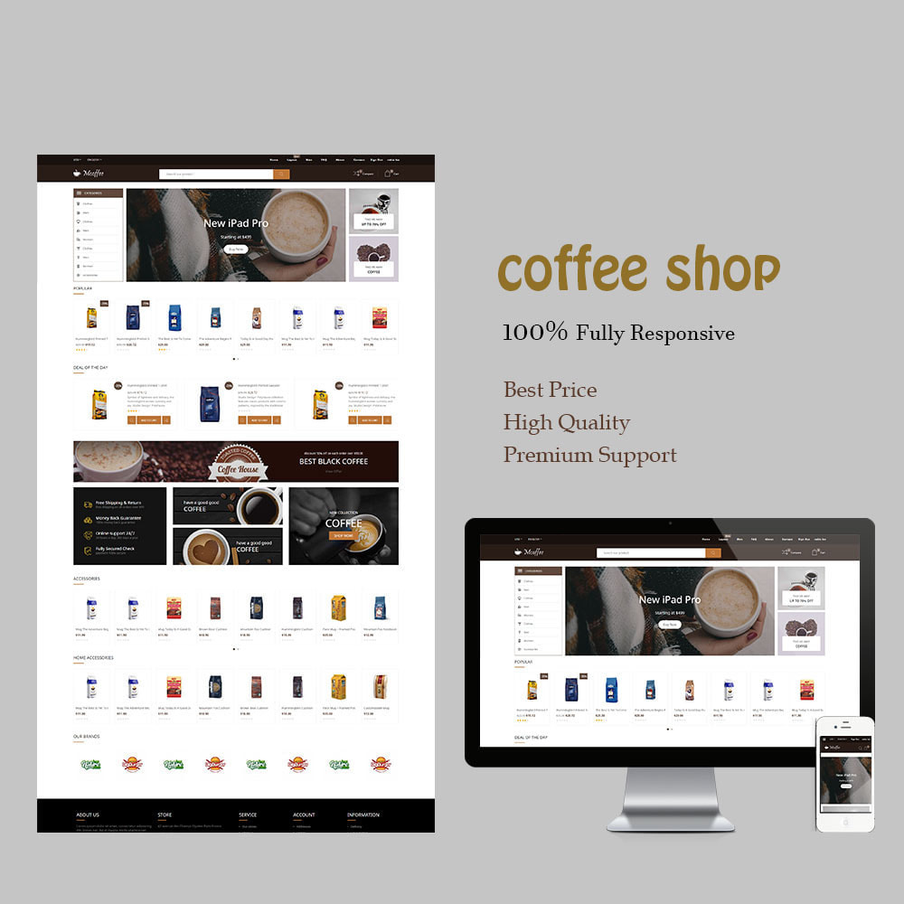 theme - Напитки и с сигареты - BM Coffee,Cafe, Restaurant & Tobacco  Store - 1