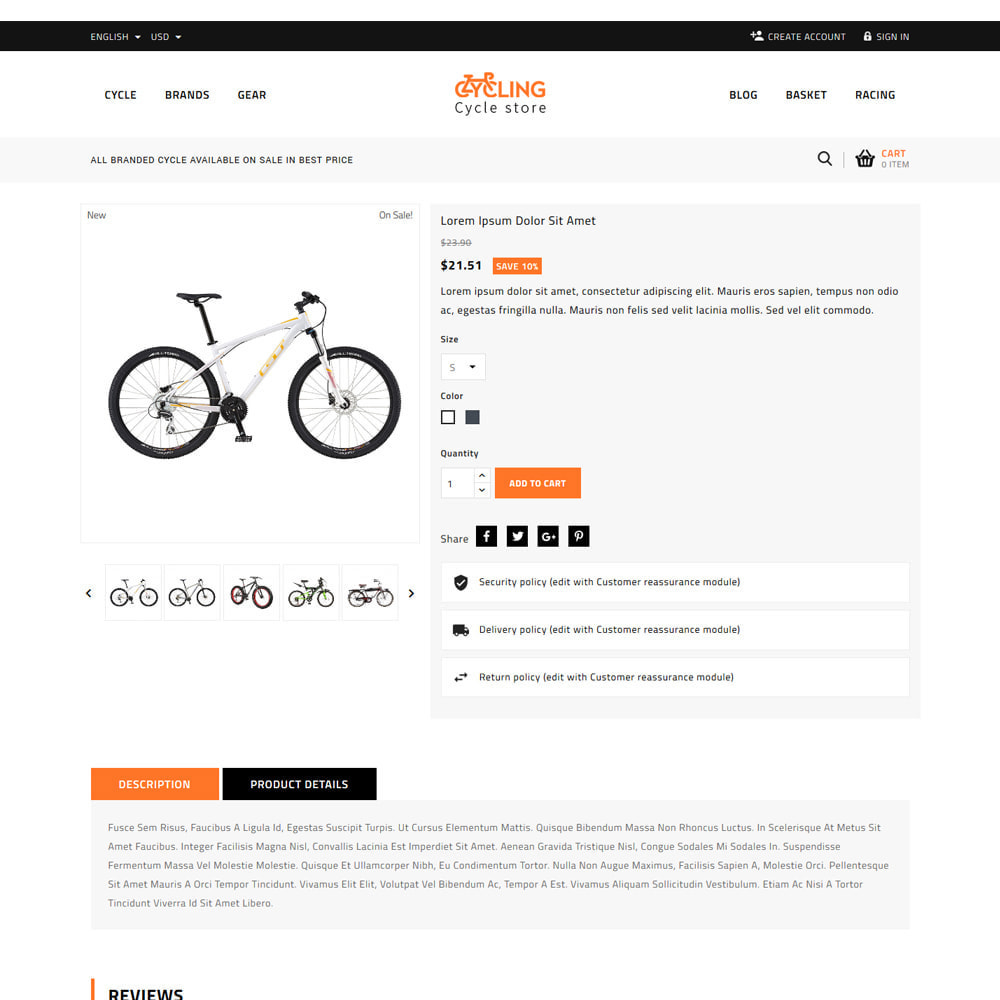 theme - Samochody - Cycling Bicycle store - 5