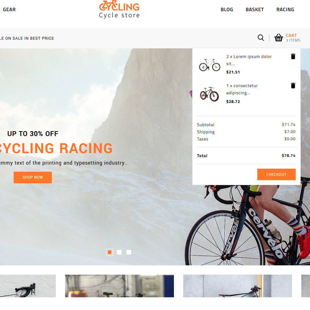 theme - Samochody - Cycling Bicycle store - 7