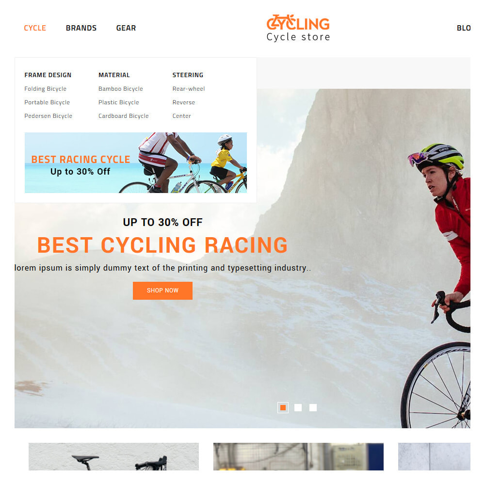 theme - Samochody - Cycling Bicycle store - 8