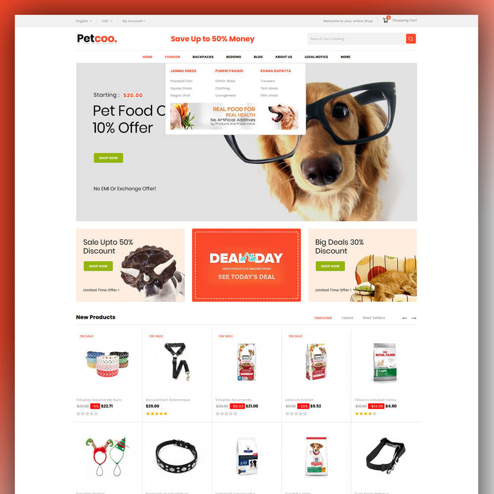 theme - Animaux - Petcoo - Pet Store - 2