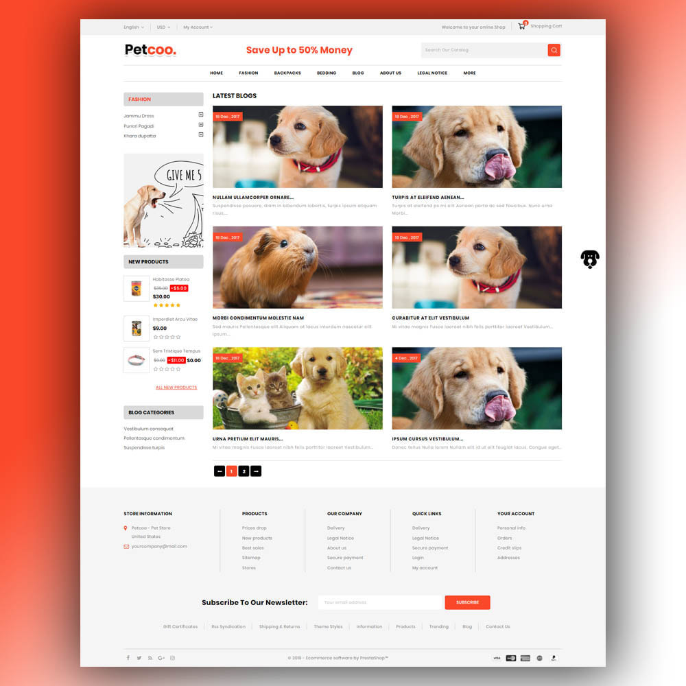 theme - Animaux - Petcoo - Pet Store - 7