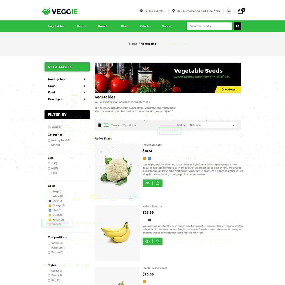 theme - Продовольствие и рестораны - Vegitables Food - Фруктовый магазин - 4