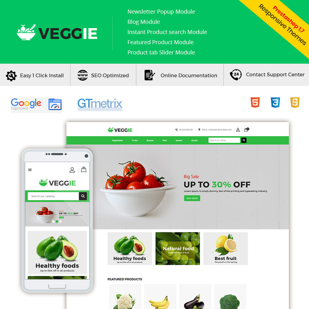 theme - Gastronomía y Restauración - Alimentos Vegetales - Tienda de frutas - 2