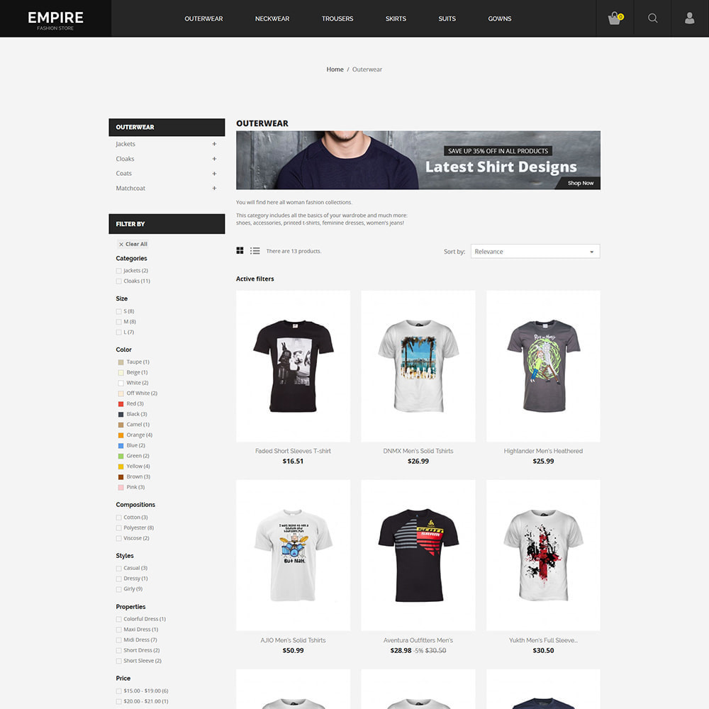 theme - Moda & Obuwie - Black Fashion - Dark Women tshirt Store - 5