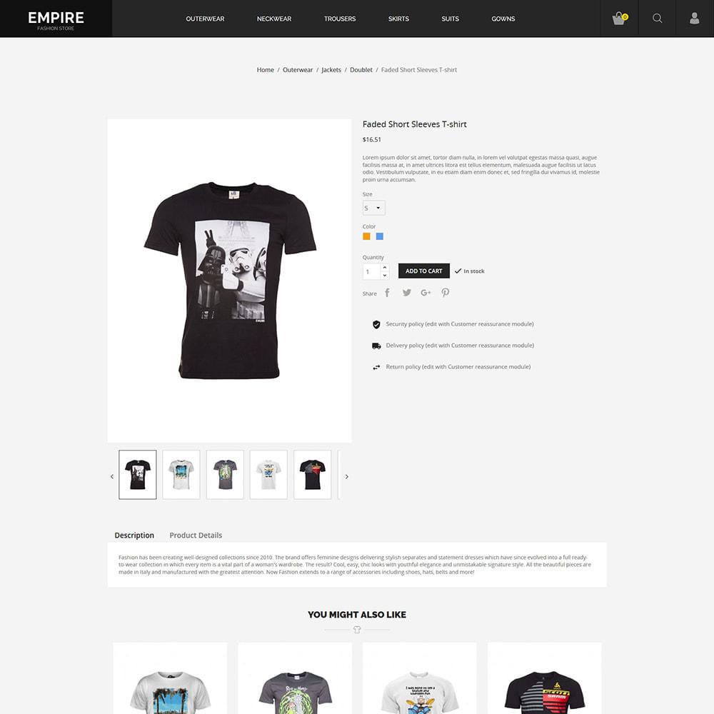 theme - Moda & Obuwie - Black Fashion - Dark Women tshirt Store - 6