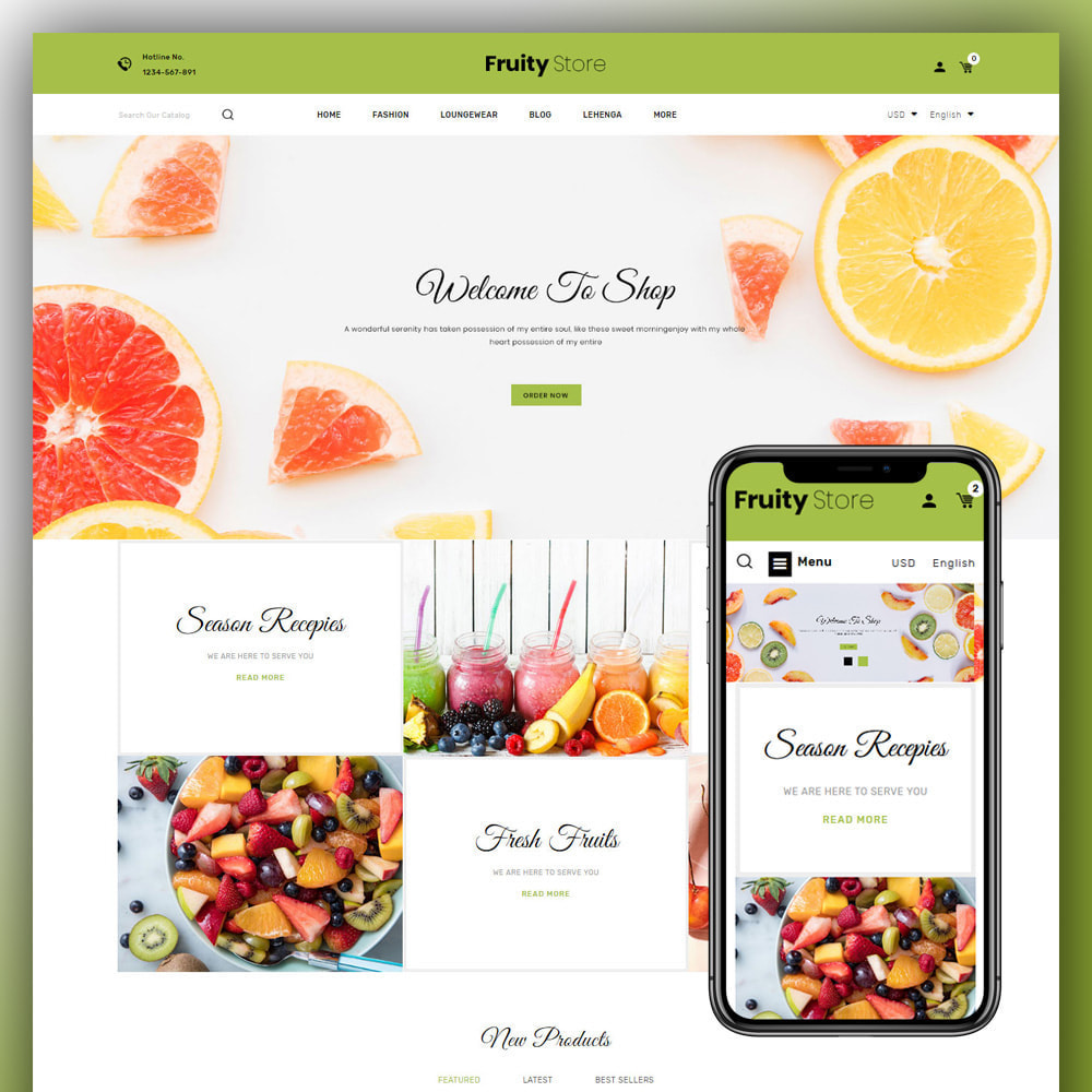 theme - Food & Restaurant - Fruity - Fruit Store - 1
