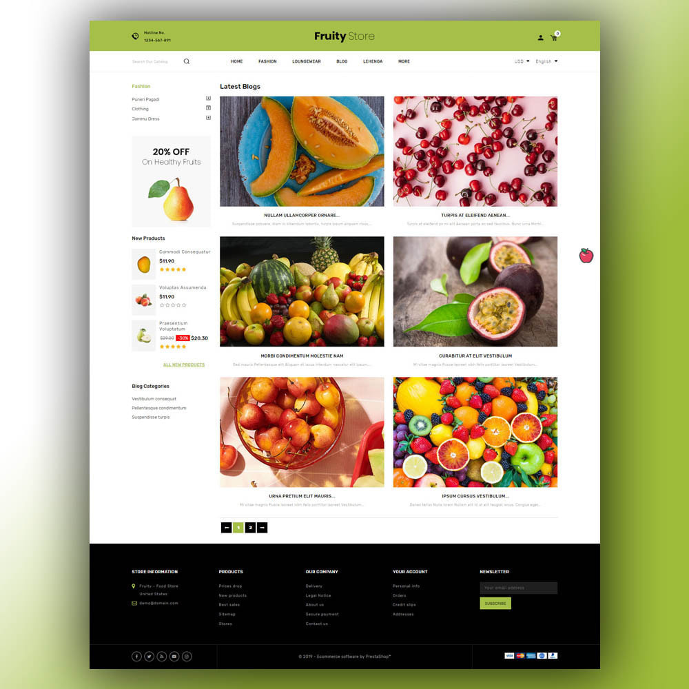 theme - Food & Restaurant - Fruity - Fruit Store - 7