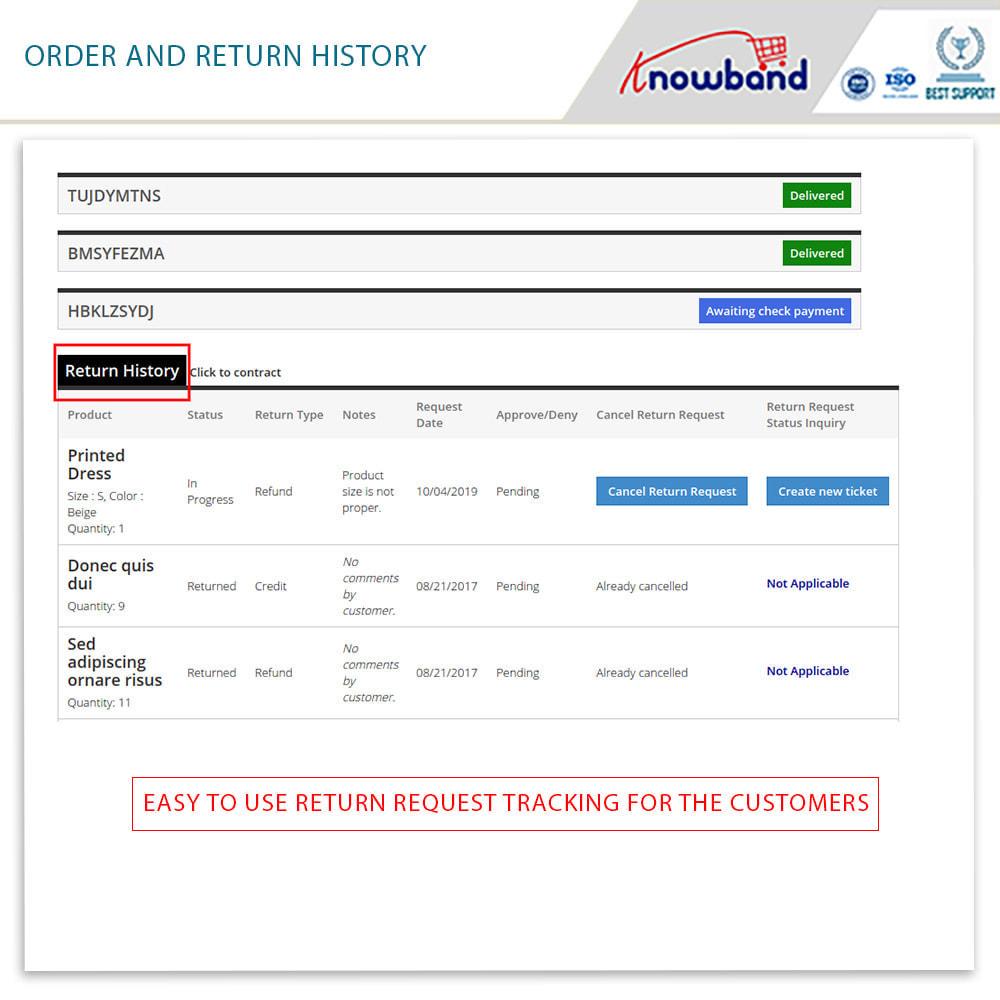 module - Klantenservice - Knowband - Order Return Manager(Return Slip & Barcode) - 5