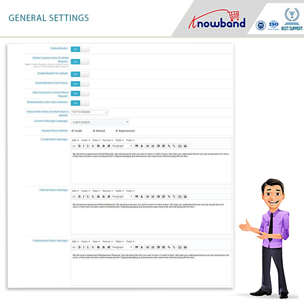 module - Customer Service - Knowband - Order Return Manager(Return Slip & Barcode) - 9