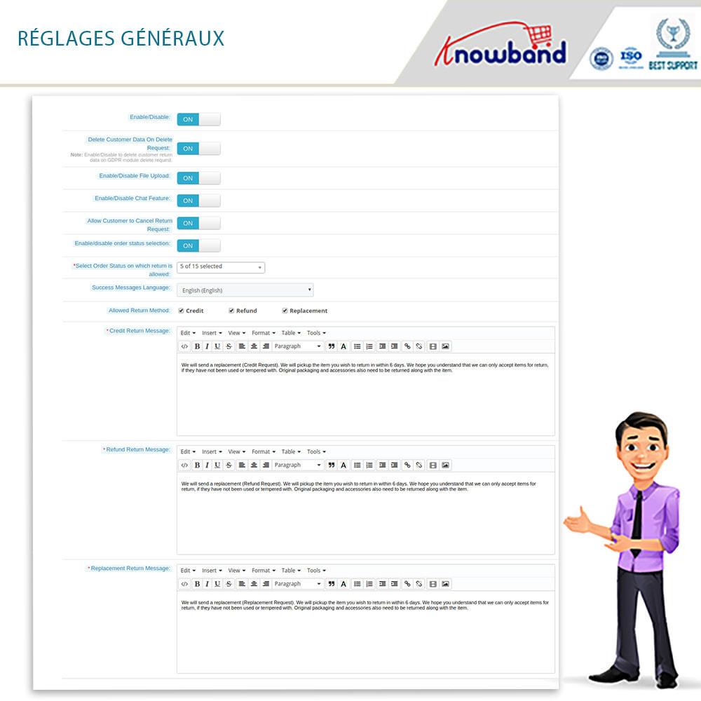 module - Service Client - Knowband - Gestionnaire de Retour des Commandes - 9