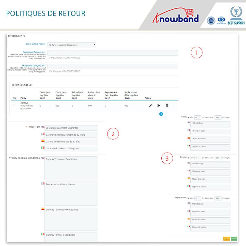 module - Service Client - Knowband - Gestionnaire de Retour des Commandes - 12