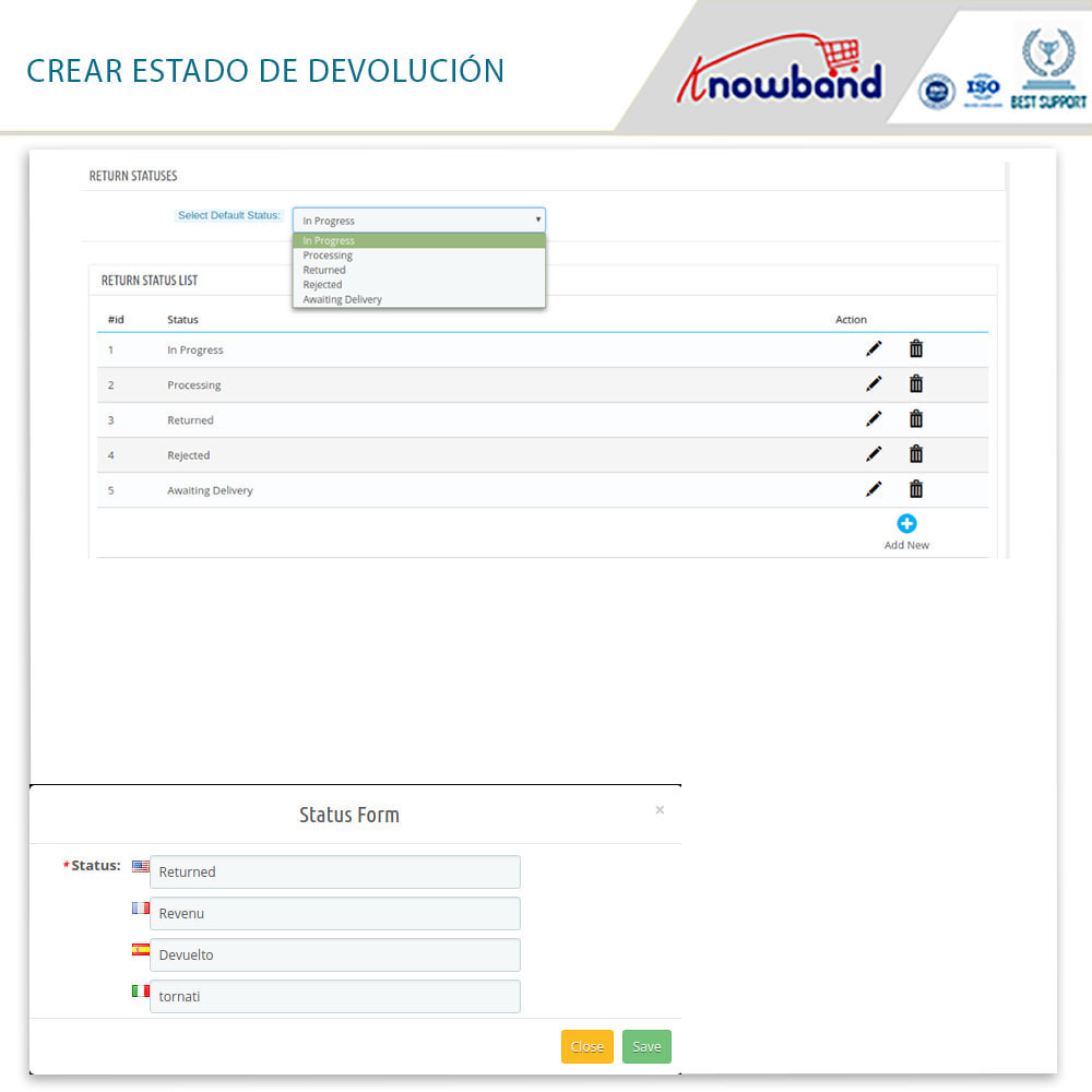 module - Servicio posventa - Knowband - Gestor de Devolución de Pedidos - 14