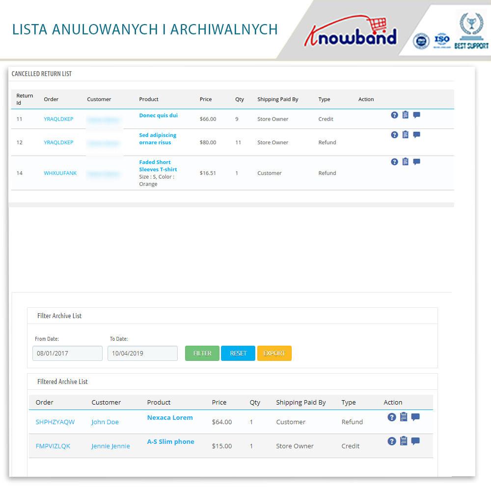 module - Serwis posprzedażowy - Knowband - Order Return Manager(Return Slip & Barcode) - 16
