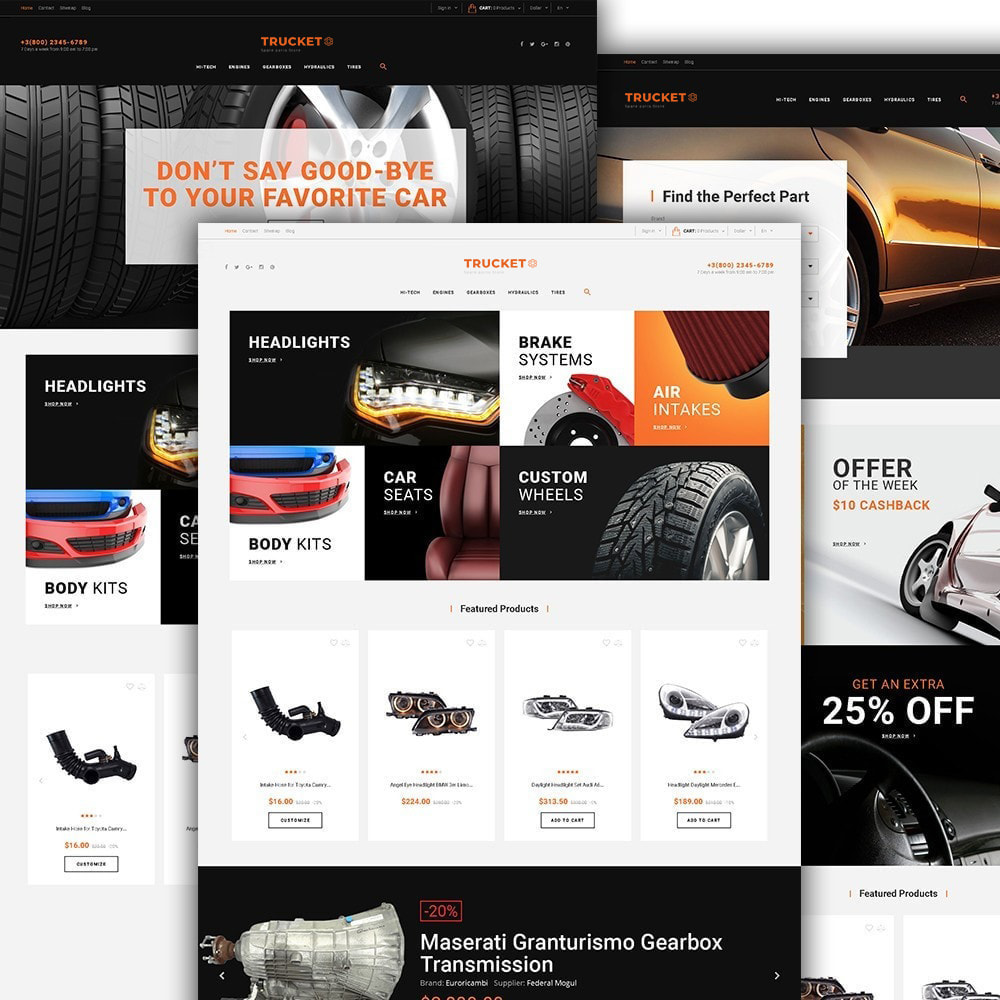 theme - Авто и Мото - Trucket - Spare Parts Store - 4