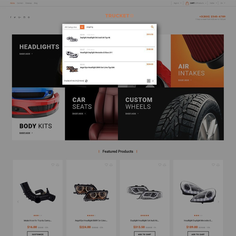 theme - Coches y Motos - Trucket - Spare Parts Store - 4