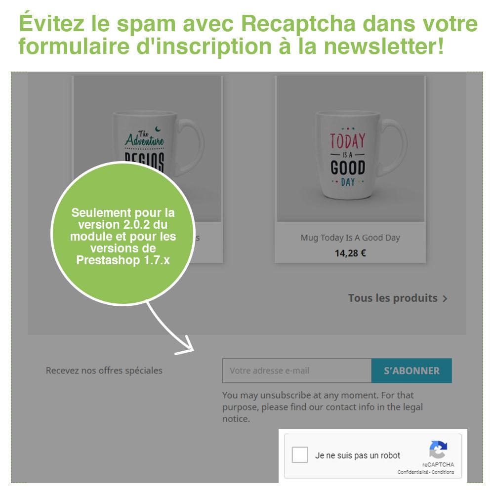 module - Sécurité & Accès - Captcha - reCaptcha - Anti Spam Protection - 5