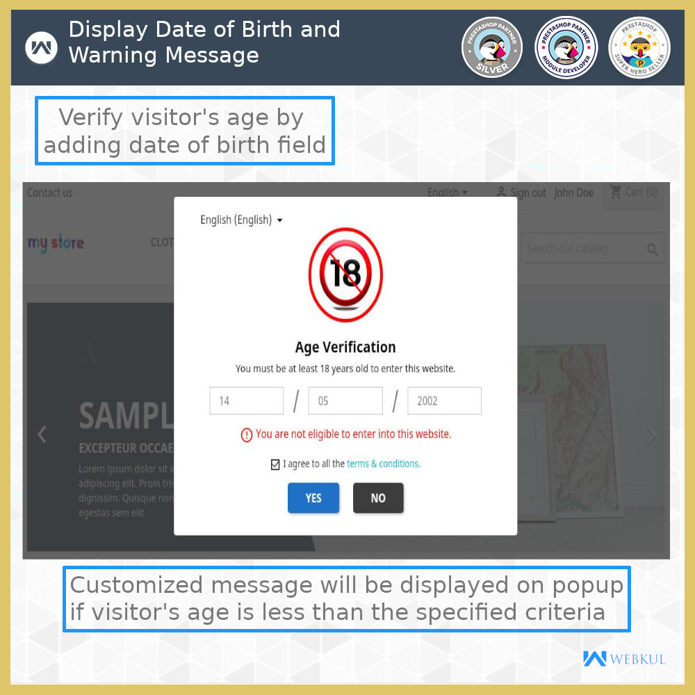 module - Sicherheit & Berechtigungen - Age Verification | Restrict Underage Users - 4