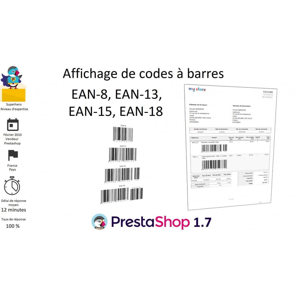 module - Préparation & Expédition - Codes à barres EAN 8, 13, 15, 18 et stocks - 1