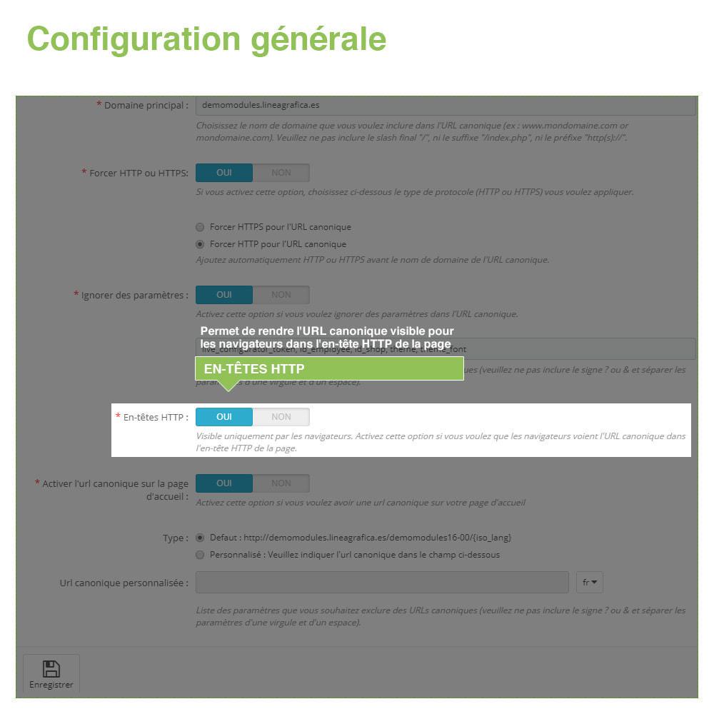 module - URL & Redirections - URL canoniques pour éviter les doublons - SEO - 5