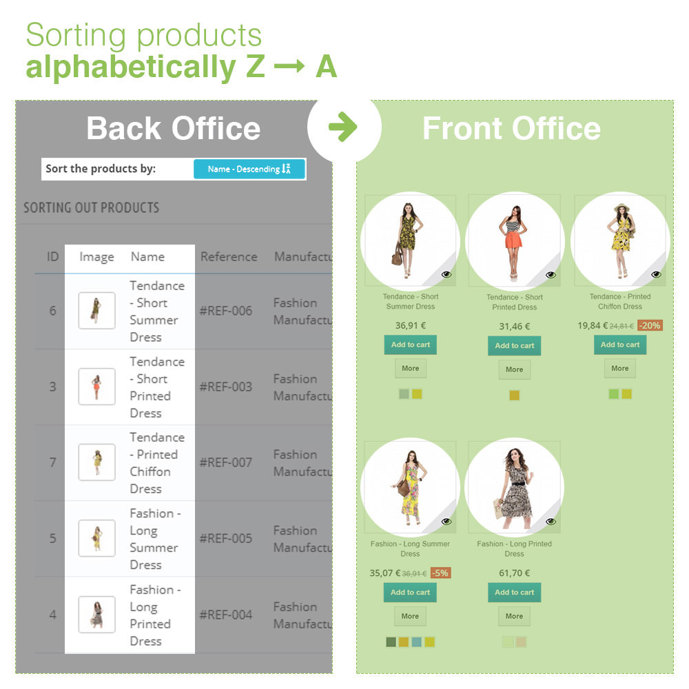 module - Snelle & seriematige bewerking - Sorting Out Products by Category - Display Order - 11