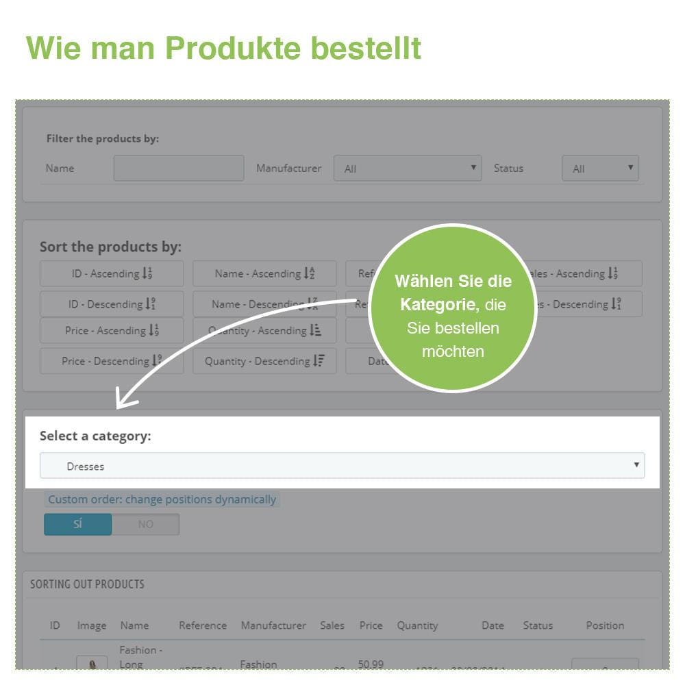 module - Quick Eingabe & Massendatenverwaltung - Sortierung der Produkte nach Kategorie - Bestellung - 3