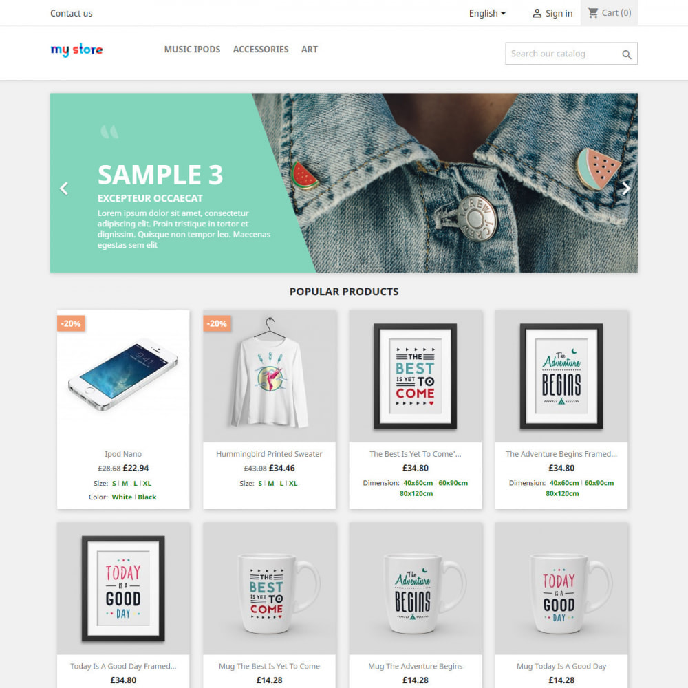 module - Combinations & Product Customization - Product attributes / combinations in category - 4