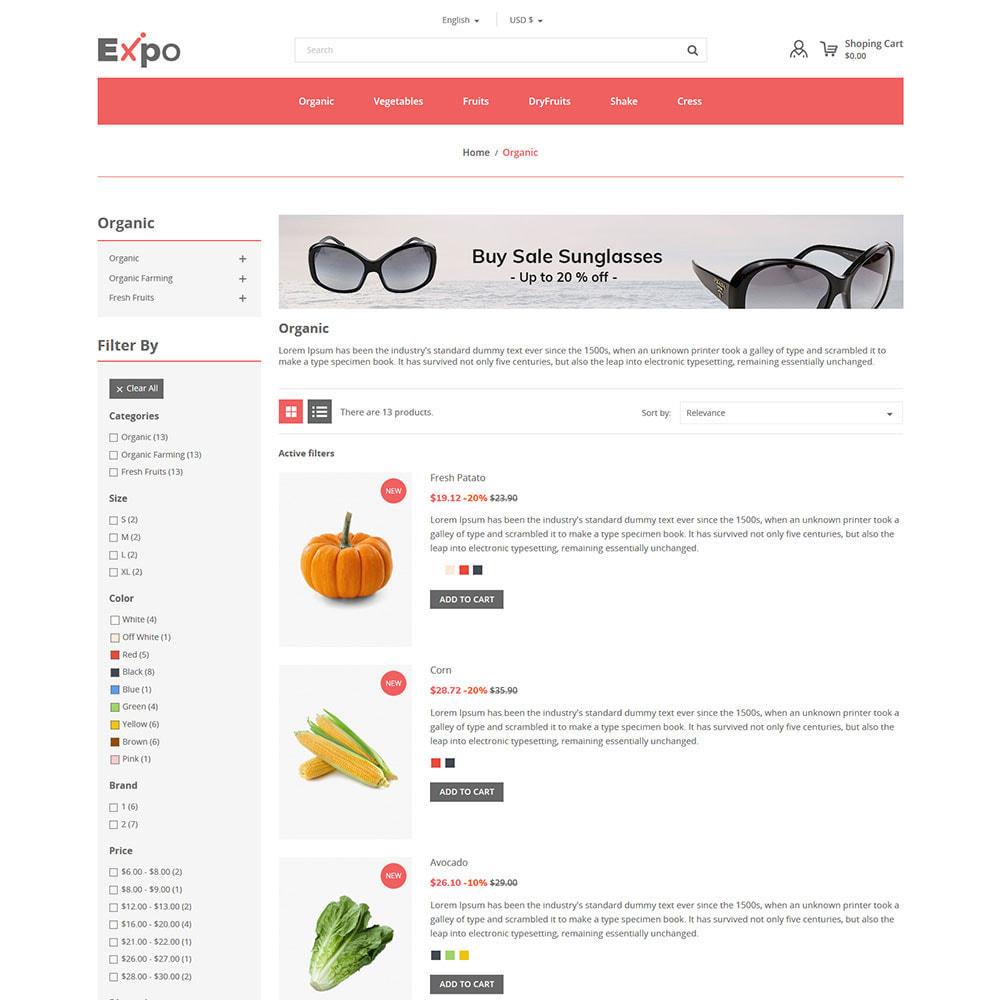 theme - Alimentation & Restauration - Restaurant - Magasin de légumes bio - 5