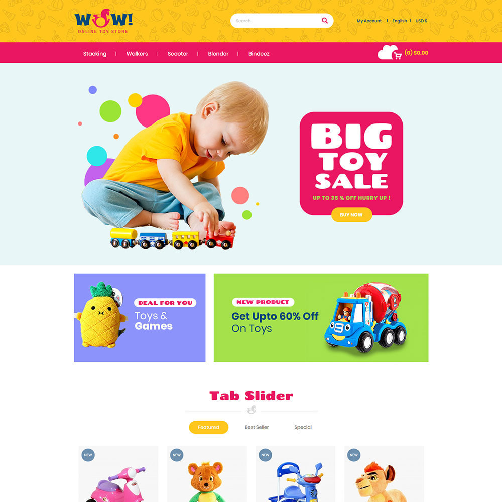 theme - Дети и Игрушки - Wow Kids - Магазин игрушек для детских игрушек - 3