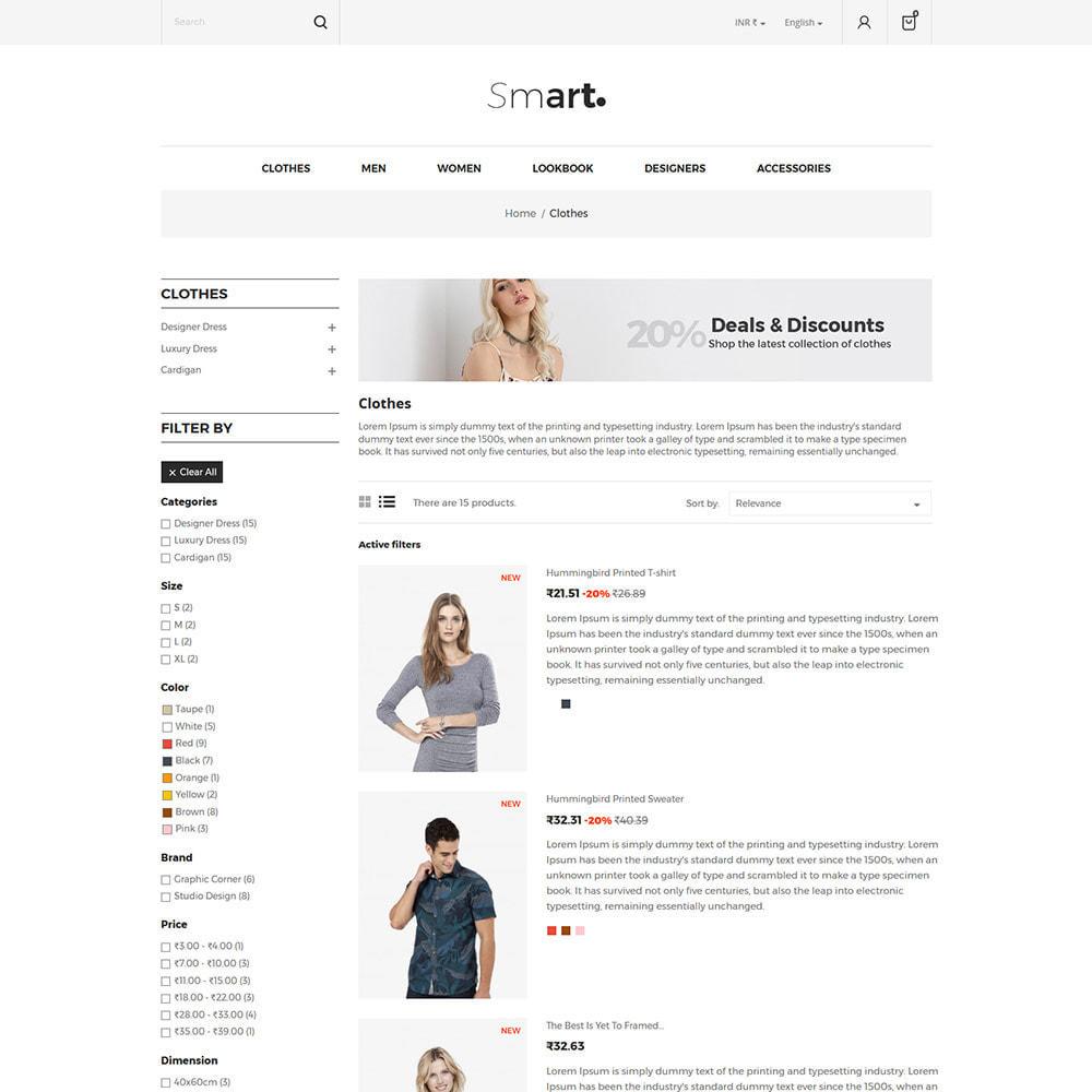 theme - Mode & Chaussures - Smart Bag - Magasin de vêtements de mode - 4